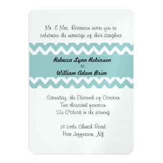 Chevron Personalized Color Wedding Invivation Card