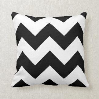 Chevron Pillow with Black and White Zigzag Throw Cushion