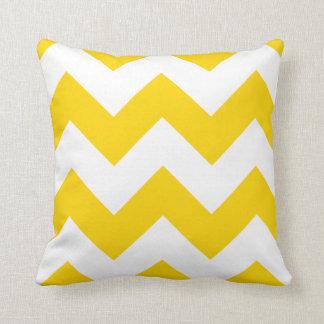 Chevron Pillow with Freesia Yellow Zigzag Cushion