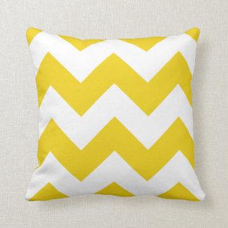 Chevron Pillow with Lemon Yellow Zigzag