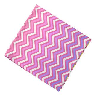 Chevron Pink and Purple Bandana