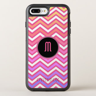 Chevron Pink Purple Monogram OtterBox Symmetry iPhone 8 Plus/7 Plus Case