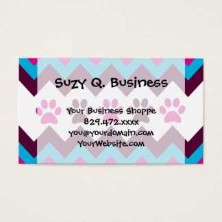 Chevron Pink Teal Puppy Paw Prints Dog Lover Gifts