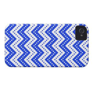 Chevron Polka Dots 7 Blue Case-Mate iPhone 4 Cases
