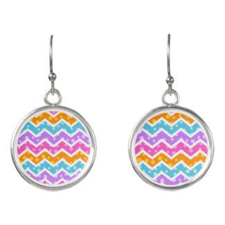 Chevron Polka Dots Earrings