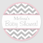 Chevron Print & Pink Contrast Baby Shower