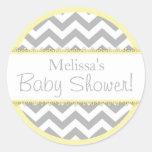 Chevron Print & Yellow Contrast Baby Shower