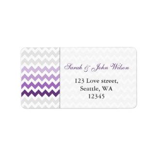 chevron purple Ombre  return address label