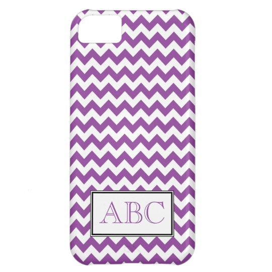 Chevron Purple & White iPhone 5 Case