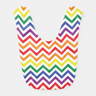 Chevron Rainbow Bib