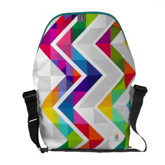 Chevron Rainbow Messenger Bag