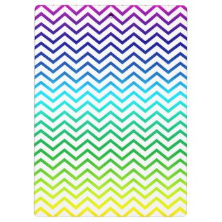 Chevron Rainbow Pattern Zigzag Clipboard