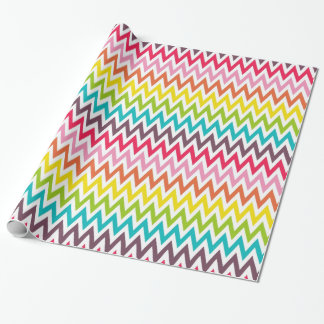 Chevron Rainbow Wrapping Paper