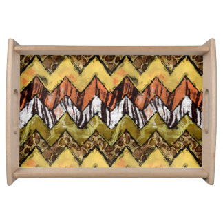 Chevron Safari Serving Tray
