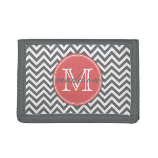Chevron Salmon Monogramed Wallet