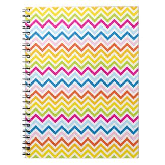 Chevron sample multicolored spiral notebook