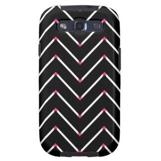 Chevron Samsung Galaxy S3 Case Neon Pink ZigZag