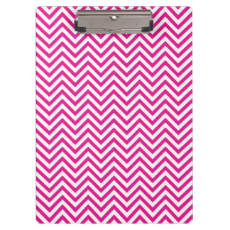 Chevron Stripe Pink Pattern Clipboard