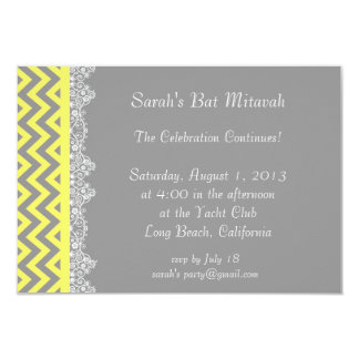Chevron Stripe - yellow  Invitation - insert