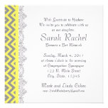 Chevron Stripe - yellow Personalized Invite