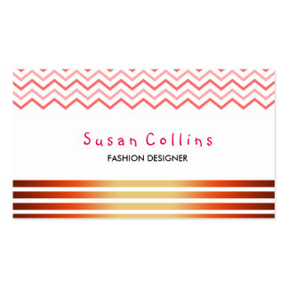 Chevron Striped Clean Fashion Red Simple Pack Of Standard Business Cards