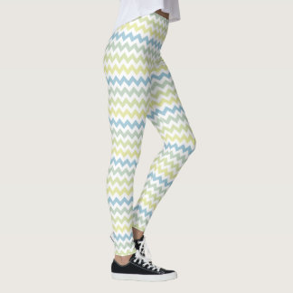 chevron stripes in pastel colors leggings