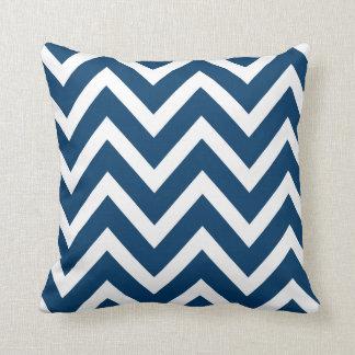Chevron Stripes Pillow | Navy Blue Cushion