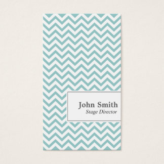 Chevron Stripes Stage Director Business Card