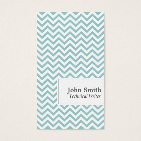 Chevron Stripes Technical Writer Business Card