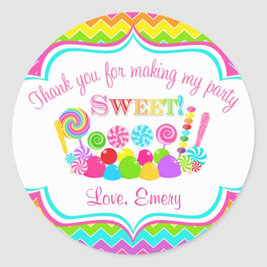 Chevron Sweet Shoppe Sticker