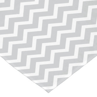 Chevron Table Runner | Gray and White