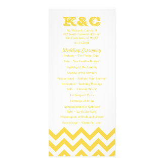 Chevron Wedding Programs Rack Card