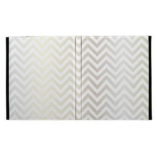 Chevron | White Gold, Luxe iPad Cases