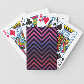 Chevron with Pink Purple and Black Deck Of Cards