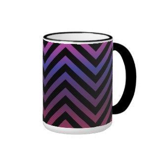 Chevron with Pink Purple and Black Coffee Mug