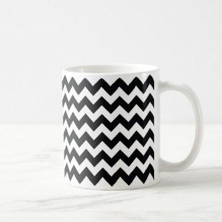 Chevron Zig Zag Black/White Mug