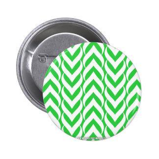 Chevron Zig Zag Green 6 Cm Round Badge