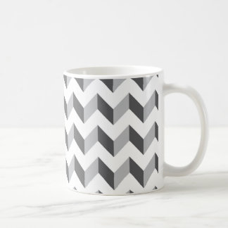 Chevron Zig Zag Grey Coffee Mug