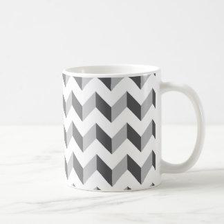 Chevron Zig Zag Grey Coffee Mug