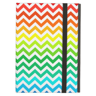 Chevron Zig Zag Pattern in Bright Rainbow Colors Cover For iPad Air