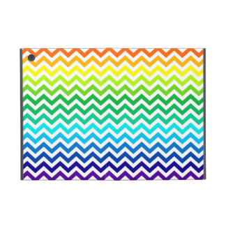Chevron Zig Zag Pattern in Bright Rainbow Colors iPad Mini Cover