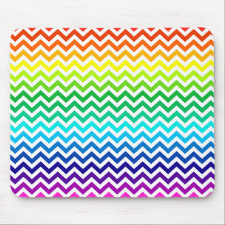 Chevron Zig Zag Pattern in Bright Rainbow Colors Mouse Mat