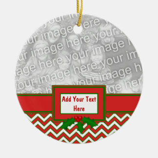 Chevron Zig Zag Pattern in Festive Colors Christmas Ornament