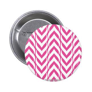 Chevron Zig Zag Pink 6 Cm Round Badge