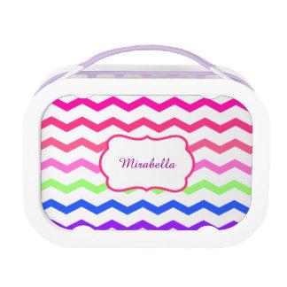 chevron zigzag colorful pattern lunch box