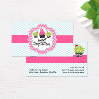 Chevron Zigzag Cupcake Bakery Business Card