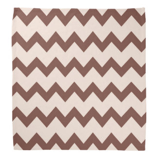 Chevron zigzag design natural brown pink head kerchiefs