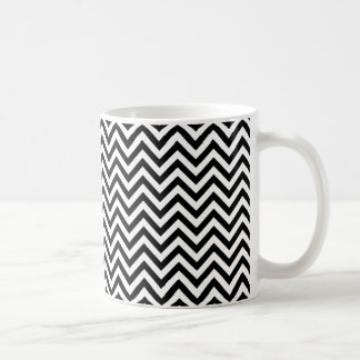 Chevron Zigzag Pattern Black and White Coffee Mug