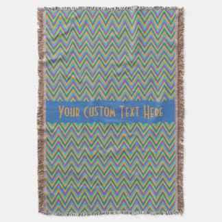 Chevron / Zigzag Pattern custom throw blanket