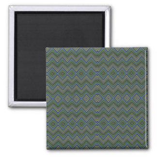chevron,zigzag,pattern green magnet